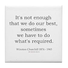 Winston Churchill 14 Tile Coaster