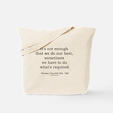 Winston Churchill 14 Tote Bag