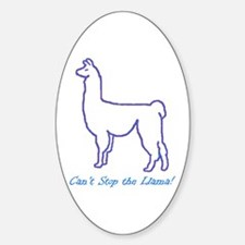Can't Stop the Llama Oval Decal