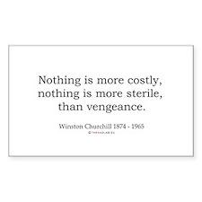 Winston Churchill 17 Rectangle Decal