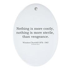 Winston Churchill 17 Oval Ornament