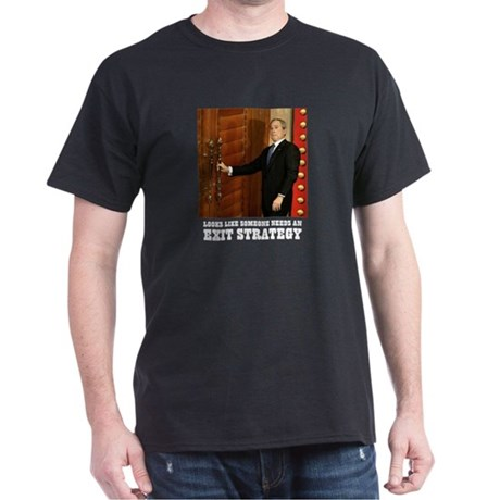BUSH IN CHINA EXIT STRATEGY - Black T-Shirt