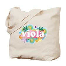 Retro Burst Viola Tote Bag
