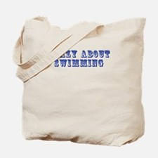 Crazy about Swimming Tote Bag