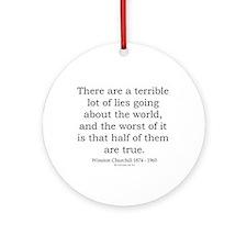 Winston Churchill 19 Ornament (Round)