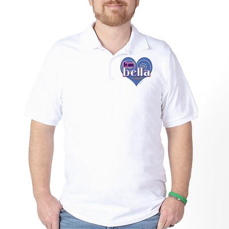 Team Bella Big Blue Heart Golf Shirt