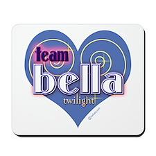 Team Bella Big Blue Heart Mousepad