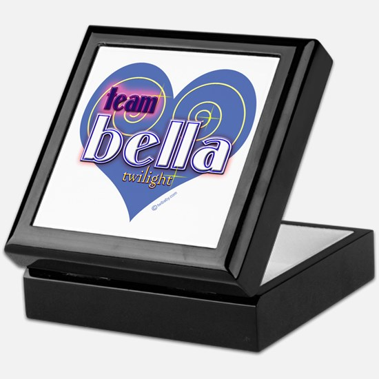 Team Bella Big Blue Heart Keepsake Box
