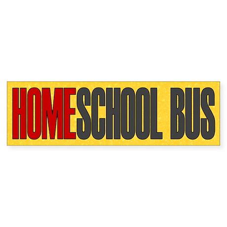 Homeschool Bus 1 Bumper Sticker
