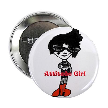 """Attitude Girl 2.25"""" Button (10 pack)"""