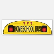Homeschool Bus 2 Bumper Bumper Bumper Sticker