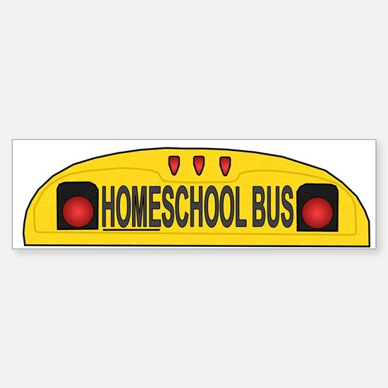 Homeschool Bus 2 Bumper Bumper Bumper Sticker