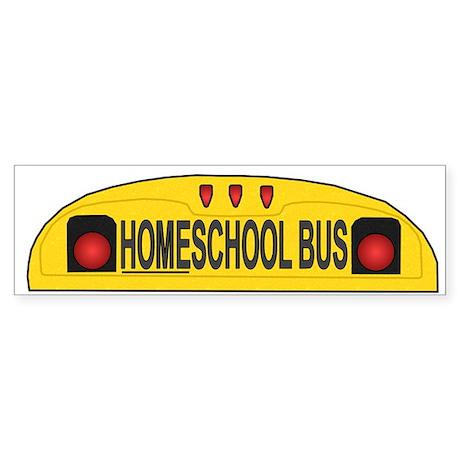 Homeschool Bus 2 Bumper Sticker