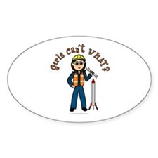 Light Rocket Scientist Oval Decal