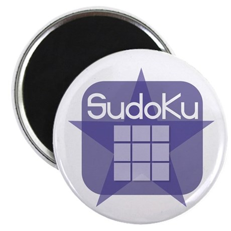 "Sudoku Grid And Star 2.25"" Magnet (10 pack)"