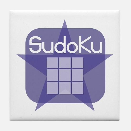 Sudoku Grid And Star Tile Coaster