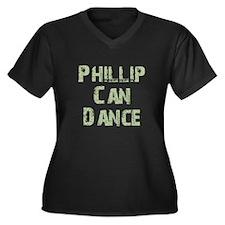 Phillip Women's Plus Size V-Neck Dark T-Shirt