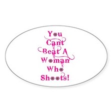 Domestic Violence Self Defens Oval Decal