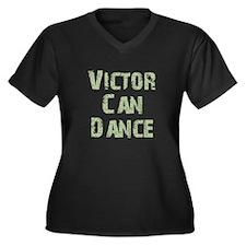 Victor Women's Plus Size V-Neck Dark T-Shirt