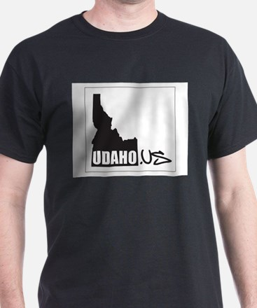 UDAHO.US Logo Black T-Shirt