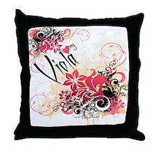 Heart My Viola Throw Pillow