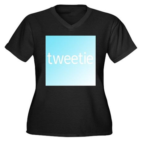Twitter (c) Women's Plus Size V-Neck Dark T-Shirt