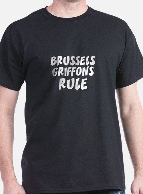 BRUSSELS GRIFFONS RULE Black T-Shirt