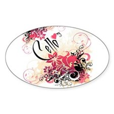Heart My Cello Oval Decal