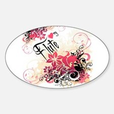 Heart My Flute Oval Decal