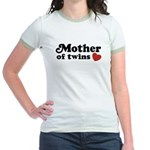 Mother of Twins Jr. Ringer T-Shirt