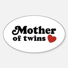 Mother of Twins Oval Decal