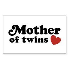 Mother of Twins Rectangle Sticker 10 pk)
