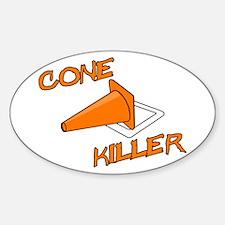 Cone Killer Sticker (Oval)