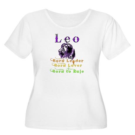 Zodiac Leo Women's Plus Size Scoop Neck T-Shirt
