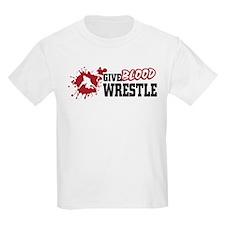 Wrestling Give Blood T-Shirt