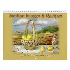 Map Of Sicily Wall Calendar