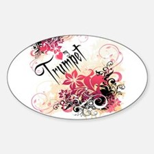 Heart My Trumpet Oval Decal