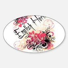 Heart My English Horn Oval Decal