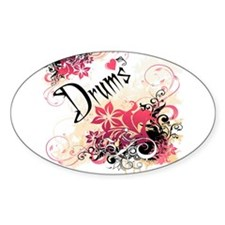 Heart My Drums Oval Decal