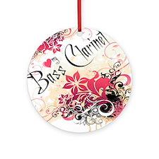 Heart My Bass Clarinet Ornament (Round)