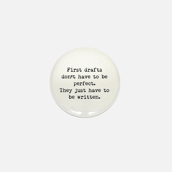 First Drafts Mini Button