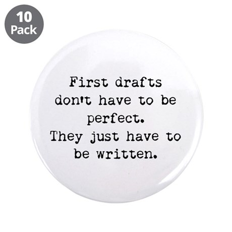 "First Drafts 3.5"" Button (10 pack)"