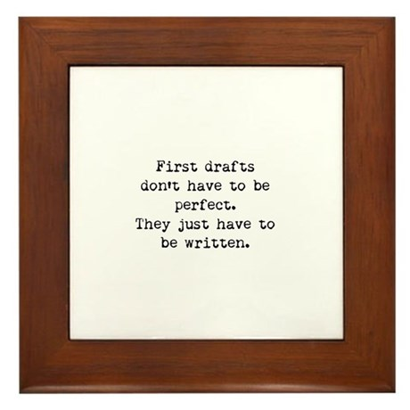 First Drafts Framed Tile
