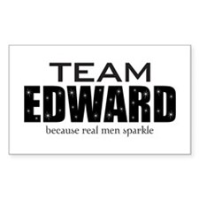 """Team Edward"" Rectangle Decal"