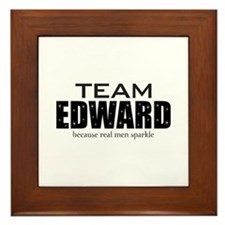 """Team Edward"" Framed Tile"