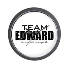 """Team Edward"" Wall Clock"