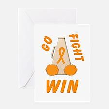 Orange GO..WIN Greeting Card