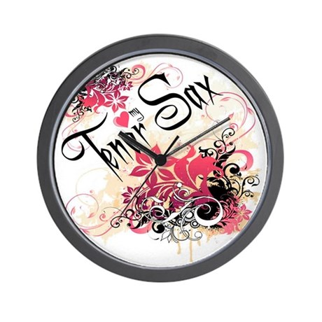 Heart My Tenor Sax Wall Clock