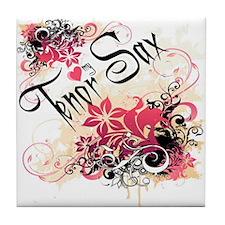 Heart My Tenor Sax Tile Coaster