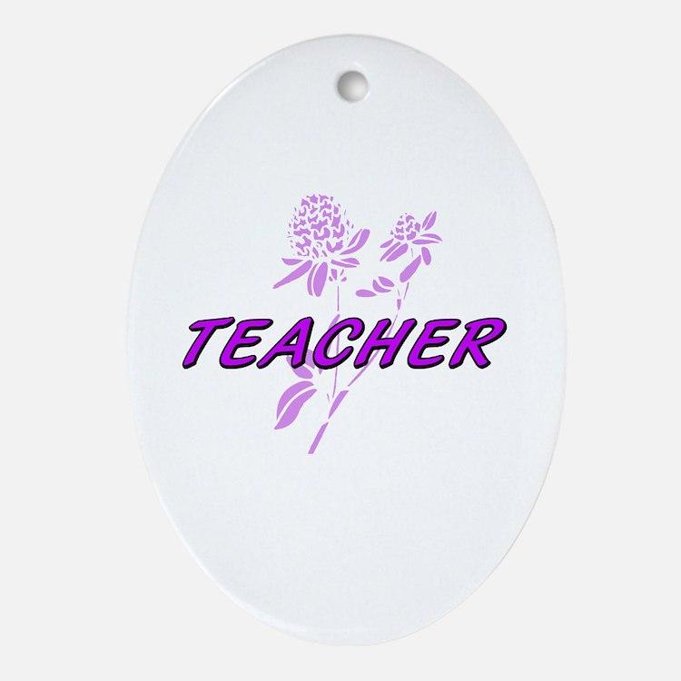 Cute World%27s hottest middle school teacher Oval Ornament